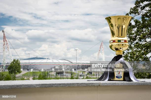 Tim Cup Trophy at Juventus headquarters on May 10 2018 in Turin Italy