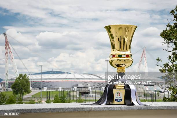 Tim Cup Trophy at Juventus headquarters on May 10, 2018 in Turin, Italy.