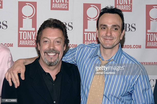 Tim Curry and Hank Azaria during 59th Annual Tony Awards 'Meet The Nominees' Press Reception at The View at The Marriot Marquis in New York City New...