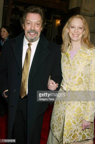 Tim Curry and Marcia Hurrwitz during Steel Magnolias Opening Night on Broadway Arrivals at Lyceum Theatre in New York City New York United States