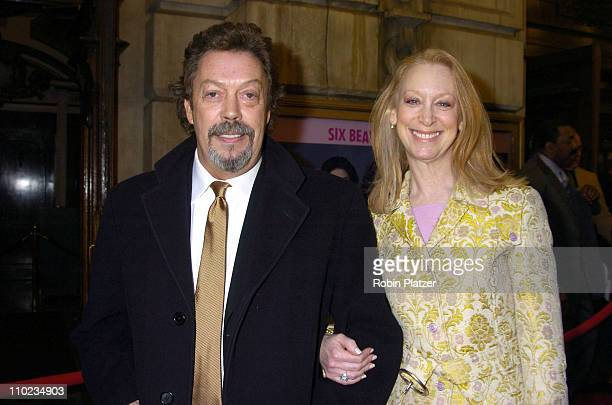 Tim Curry and Marcia Hurwitz during Steel Magnolias Opening Night on Broadway Outside Arrivals at The Lyceum Theatre in New York City New York United...