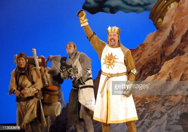 Tim Curry performs a scene from Monty Python's Spamalot