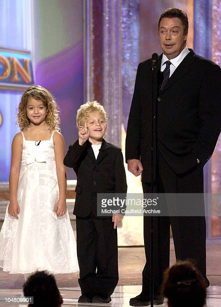 Tim Curry right alongside Sasha Pieterse and Jimmy Jax Pinchak of the new Family Affair