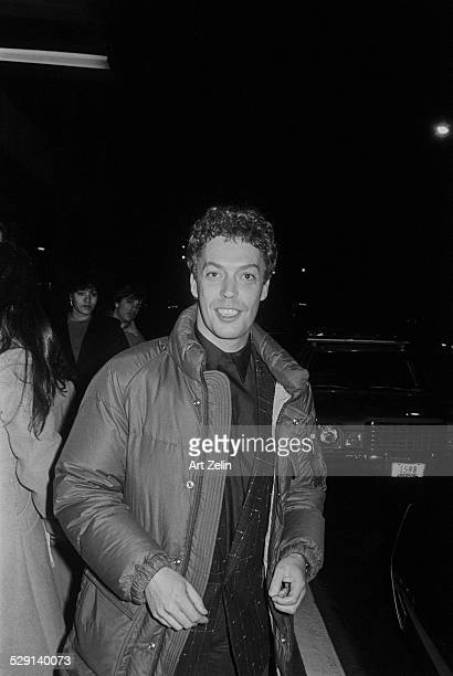 Tim Curry wearing a down coat circa 1970 New York