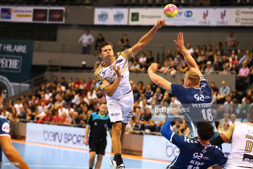 Tim Dahlhaus of Aix during Lidl Star Ligue match between Fenix Toulouse and Pays D'aix Universite Club on September 13, 2017 in Toulouse, France.