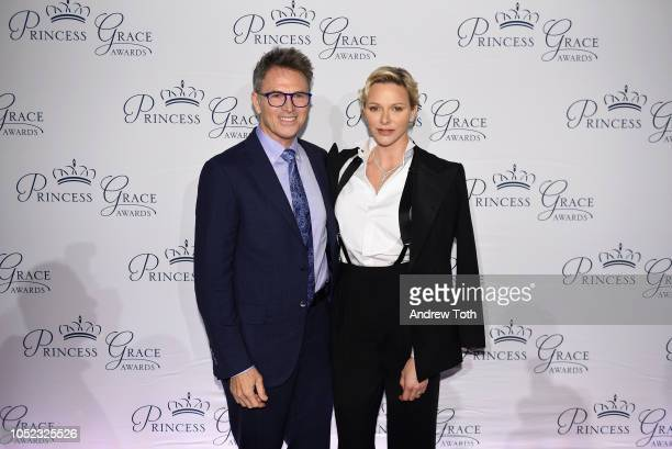 Tim Daly and HSH Princess Charlene of Monaco attend the 2018 Princess Grace Awards Gala at Cipriani 25 Broadway on October 16 2018 in New York City