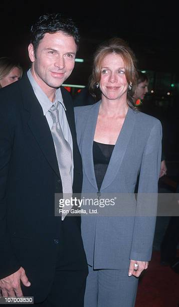 Tim Daly and wife Amy Van Nostrand during 'End of Days' Hollywood Premiere at Mann's Chinese Theater in Hollywood California United States