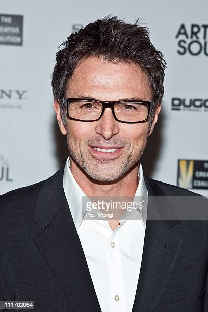 Tim Daly arrives at the Creative Coalition's Salute to Arts and Entertainment with Martini Rossi at The Library of Congress on April 29 2010 in...