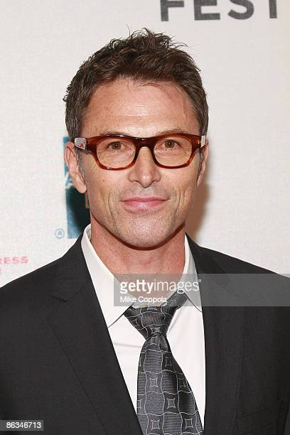"""Tim Daly attends the premiere of """"Poliwood"""" during the 8th Annual Tribeca Film Festival at the BMCC Tribeca Performing Arts Center on May 1, 2009 in..."""