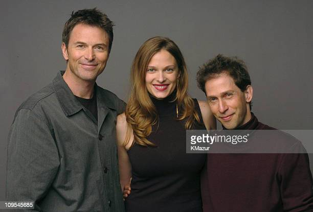 Tim Daly Vinessa Shaw and Tim Blake Nelson during 3rd Annual Tribeca Film Festival 'Bereft' Portrait Session at Turning Leaf Portrait Studio in New...