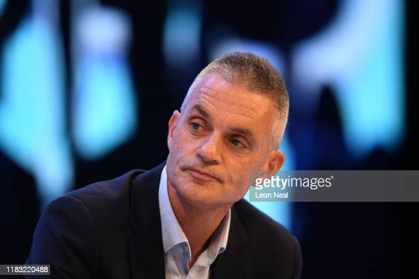 Tim Davie CEO of BBC studios attends the annual CBI conference on November 18, 2019 in London, England. With 24 days to go until the general...