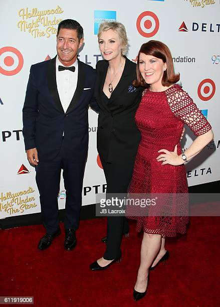 Tim Davis Jane Lynch and Kate Flannery attend the MPTF 95th anniversary celebration with 'Hollywood's Night Under The Stars' at MPTF Wasserman Campus...