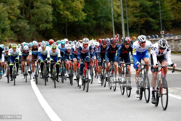 Tim Declercq of Belgium and Team Deceuninck - Quick-Step / Cameron Wurf of The United Kingdom and Team Ineos Grenadiers / Michal Golas of Poland and...