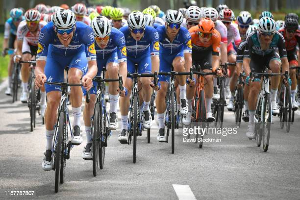 Tim Declercq of Belgium and Team Deceuninck QuickStep / Remi Cavagna of France and Team Deceuninck QuickStep / Petr Vakoc of Czech Republic and Team...