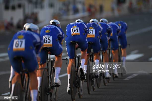 Tim Declercq of Belgium and Team DeceuninckQuickStep / during the 74th Tour of Spain 2019 Stage 1 a 134km Team Time Trial from Torrevieja Salinas de...