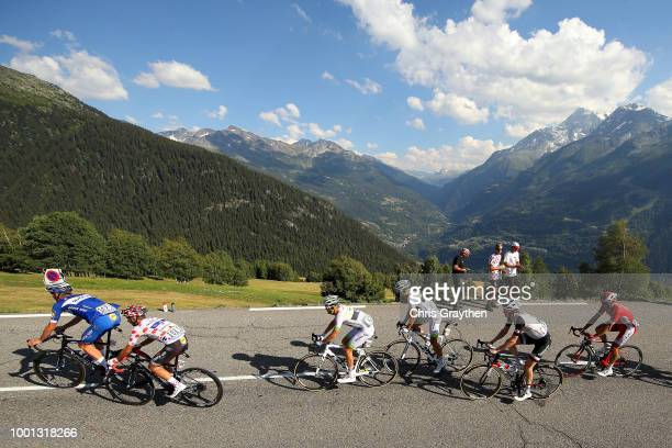 Tim Declercq of Belgium and Team QuickStep Floors / Julian Alaphilippe of France and Team QuickStep Floors Polkadot mountain jersey / Maxime Bouet of...