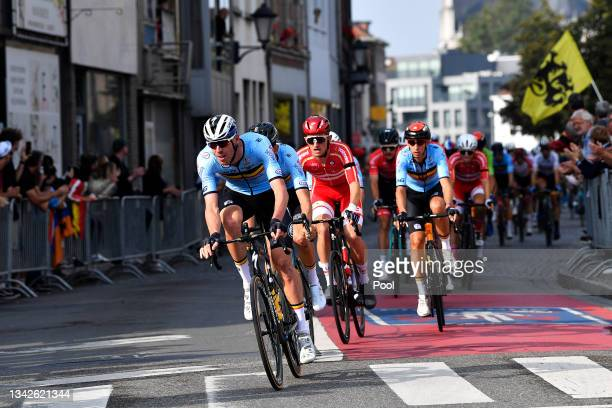 Tim Declercq of Belgium competes during the 94th UCI Road World Championships 2021 - Men Elite Road Race a 268,3km race from Antwerp to Leuven /...