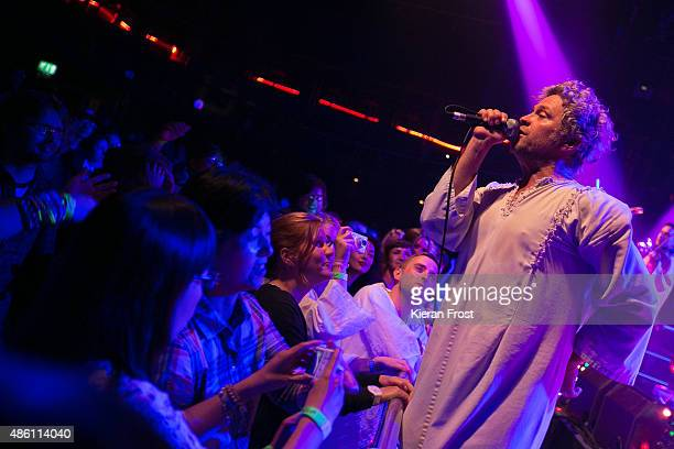 Tim DeLaughter of The Polyphonic Spree performs at The Academy on August 31, 2015 in Dublin, Ireland.