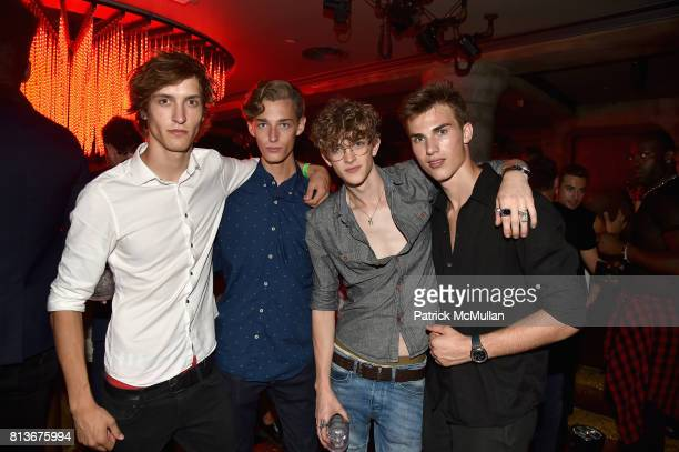 Tim Dibble Trevor Jones Akiva Miller and Zack Cox attend the Parke Ronen 20th Anniversary after party at The Gilded Lily on July 12 2017 in New York...