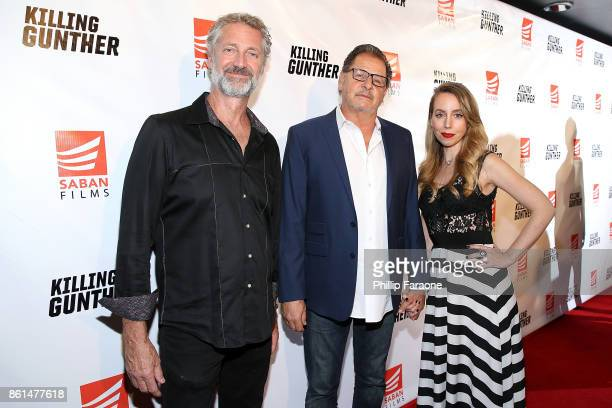 Tim Dietlein Tom Killam and Amy Gillette attend the KILLING GUNTHER premiere on October 14 2017 in Los Angeles California