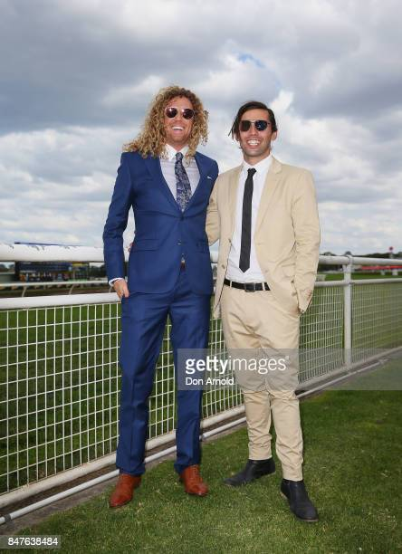 Tim Dormer and Ash Toweel attend Colgate Optic White Stakes Day at Royal Randwick Racecourse on September 16 2017 in Sydney Australia