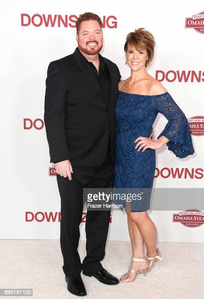 Tim Driscoll and Andrea Driscoll attend the Los Angeles special screening of 'Downsizing' at Regency Village Theatre on December 18 2017 in Westwood...