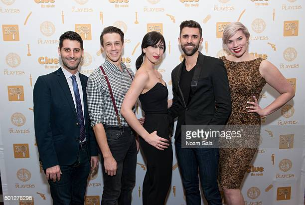 Tim Drucker Jason Michael Snow Nikka Graff Sean Peter Forte and Amy Jo Jackson attend 'Clue' 30th anniversary celebration at The Players Theatre on...