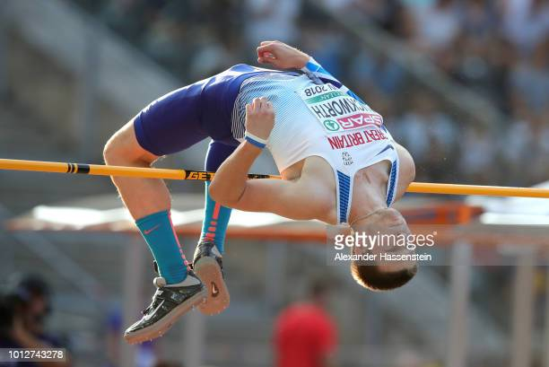 Tim Duckworth of Great Britain competes in the Men's Decathlon High Jump during day one of the 24th European Athletics Championships at...