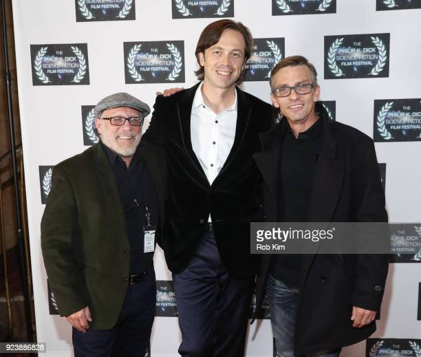 Tim Duquette Serge Levin Charles Baker attend the World Premiere of ALTERSCAPE directed by Serge Levin at The Philip K Dick Science Fiction Film...