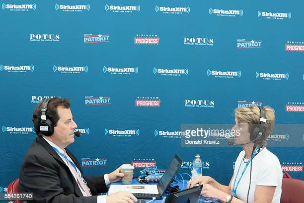 Tim Farley interviews Kathleen Kennedy Townsend Former Lt Gov of Maryland on SiriusXM on July 28 2016 in Philadelphia Pennsylvania