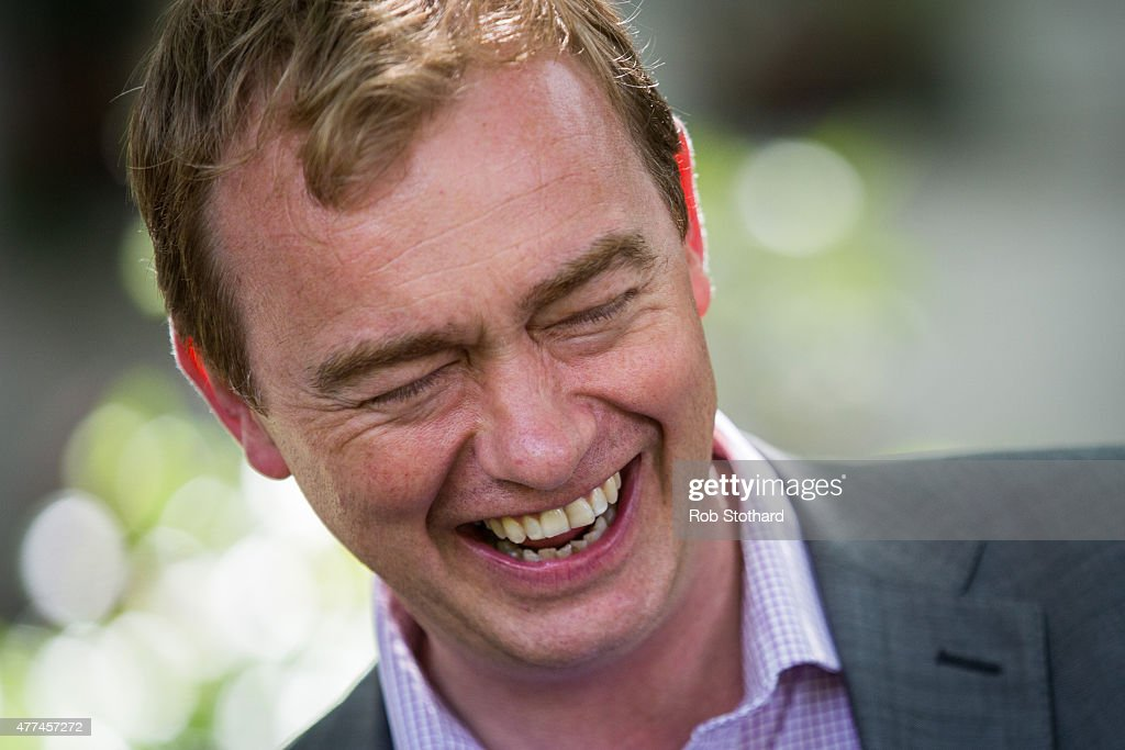 Tim Farron, MP for Westmorland and Lonsdale and a Liberal Democrat leadership candidate, speaks to members of the public outside the Houses of Parliament in Westminster on June 17, 2015 in London, England. People from all over the country travelled to London to discuss climate change with their MPs, part of 'For The Love Of', a day of activities organised by The Climate Coalition, Stop Climate Chaos Scotland and Stop Climate Chaos Cymru.