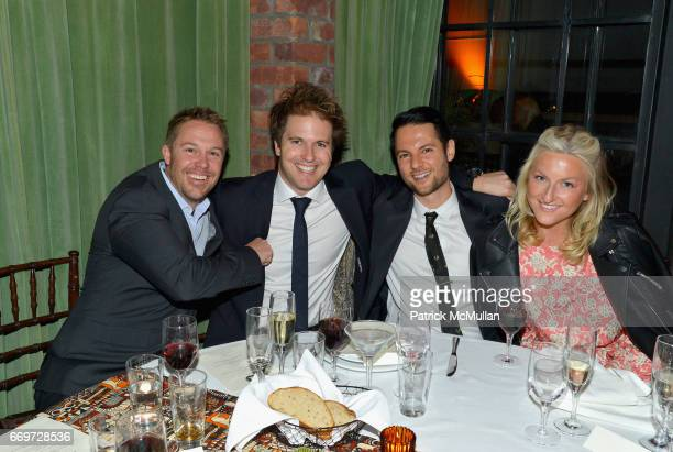 Tim Faulkner Wes Dening Igal Svet and Emma Riley attend The Turtle Conservancy's 4th Annual Turtle Ball at The Bowery Hotel on April 17 2017 in New...