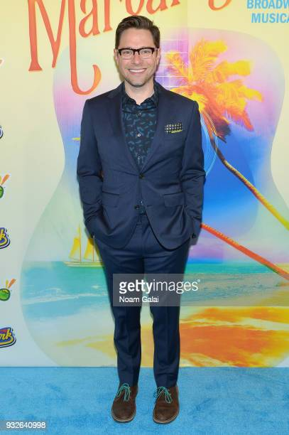 Tim Federle attends the Broadway premiere of 'Escape to Margaritaville' the new musical featuring songs by Jimmy Buffett at the Marquis Theatre on...