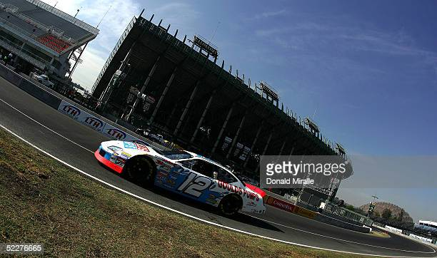 Tim Fedewa drives his Goulds Pump Dodge Intrepid during the practice for the Telcel Mexico 200 Nascar Busch Series Race on March 4, 2005 at the...