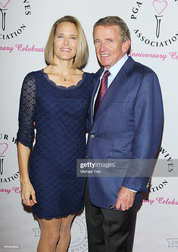 Tim Finchem (R) and wife, Holly Bachand arrive at the PGA TOUR Wives Association celebrates its 25th Anniversary held at Fairmont Miramar Hotel on February 11, 2013 in Santa Monica, California.