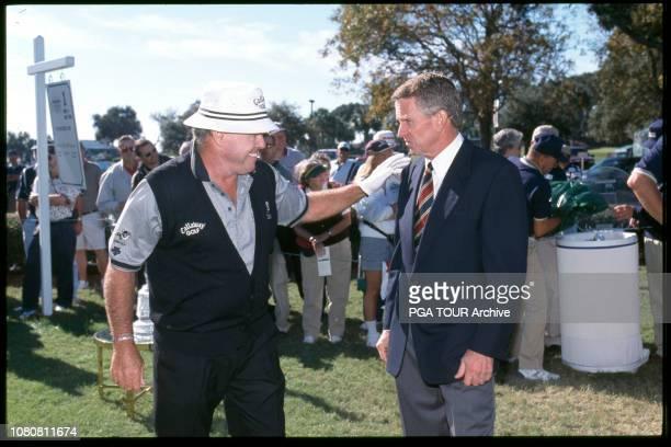 Tim Finchem Jim Colbert The Senior TOUR Championship Photo by Chris Condon/PGA TOUR Archive