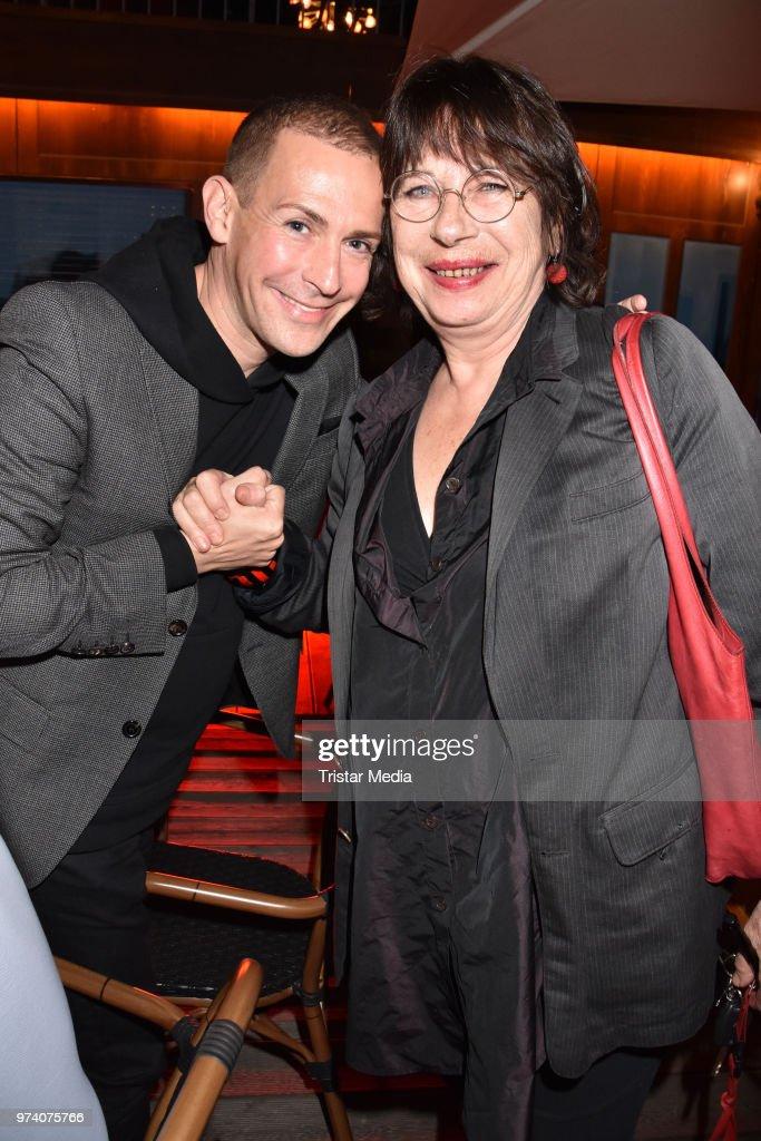 Tim Fischer and Monika Hansen attend the premiere of 'Dee Frost Welt - Lieder' at Tipi am Kanzleramt on June 13, 2018 in Berlin, Germany.