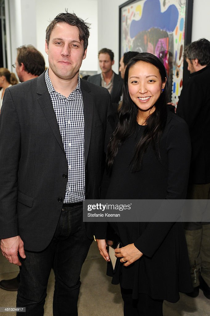 Tim Fleming and Esther Kim Varet attend The Rema Hort Mann Foundation LA Artist Initiative Benefit Auction on November 21, 2013 in Los Angeles, California.