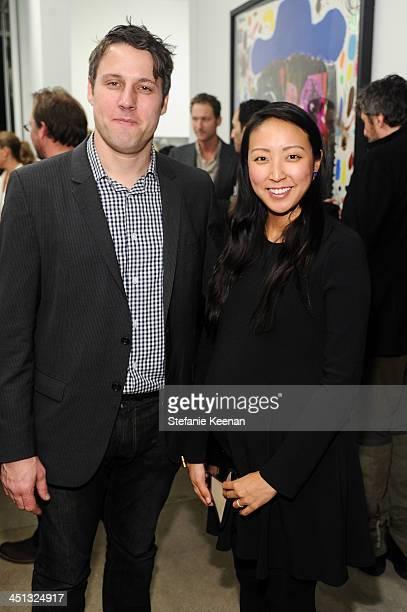 Tim Fleming and Esther Kim Varet attend The Rema Hort Mann Foundation LA Artist Initiative Benefit Auction on November 21 2013 in Los Angeles...
