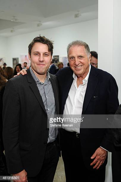 Tim Fleming and Stanley Hollander attend The Rema Hort Mann Foundation LA Artist Initiative Benefit Auction on November 21 2013 in Los Angeles...
