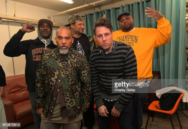 Tim Fleming of Art Los Angeles Contemporary with Freestyle Fellowship attend ALAC MUSIC SERIES @ ZEBULON Freestyle Fellowship at Zebulon on January...