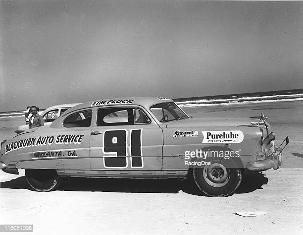 Tim Flock races on Daytona Beach