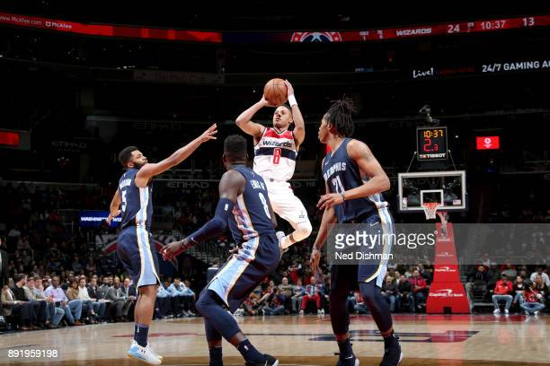 Tim Frazier of the Washington Wizards goes to the basket against the Memphis Grizzlies on December 13 2017 at Capital One Arena in Washington DC NOTE...