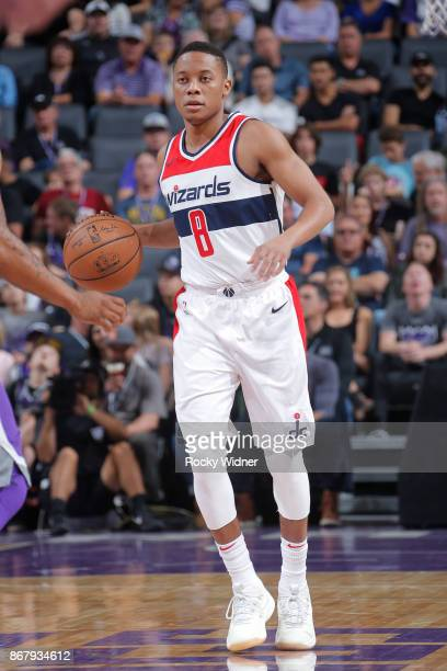 Tim Frazier of the Washington Wizards handles the ball against the Sacramento Kings on October 29 2017 at Golden 1 Center in Sacramento California...