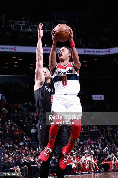 Tim Frazier of the Washington Wizards handles the ball against the Brooklyn Nets on December 22 2017 at Barclays Center in Brooklyn New York NOTE TO...