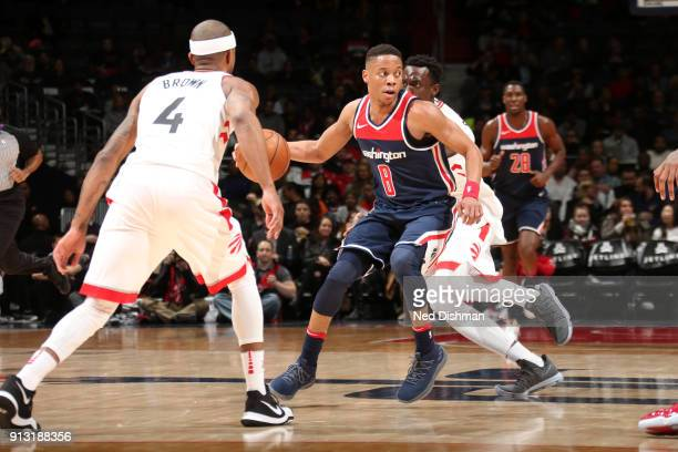 Tim Frazier of the Washington Wizards handles the ball against the Toronto Raptors on February 1 2018 at Capital One Arena in Washington DC NOTE TO...