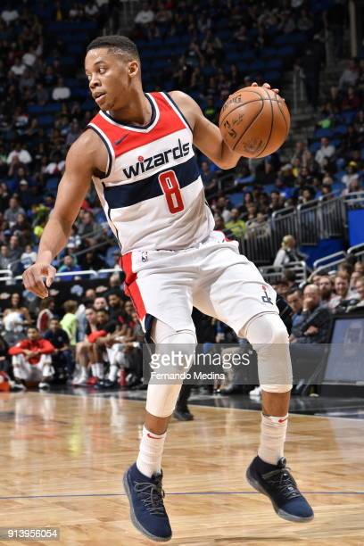 Tim Frazier of the Washington Wizards handles the ball during the game against the Orlando Magic on February 3 2018 at Amway Center in Orlando...