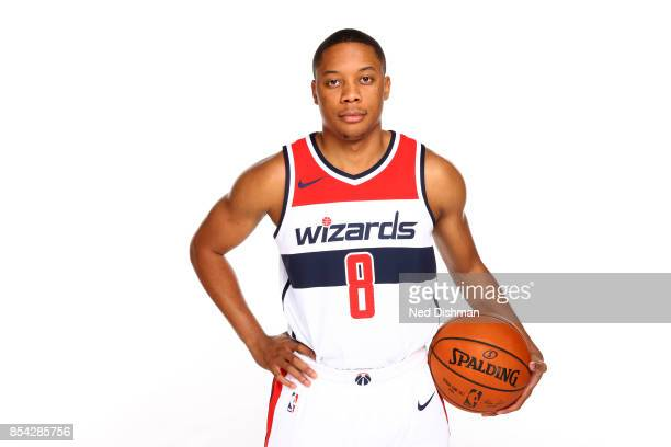 Tim Frazier of the Washington Wizards poses for a portrait during Media Day on September 25 2017 at Capital One Center in Washington DC NOTE TO USER...