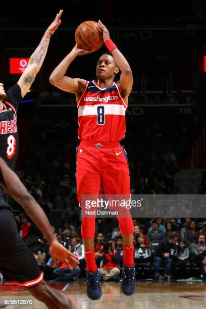 Tim Frazier of the Washington Wizards shoots the ball against the Miami Heat on November 17 2017 at Capital One Arena in Washington DC NOTE TO USER...