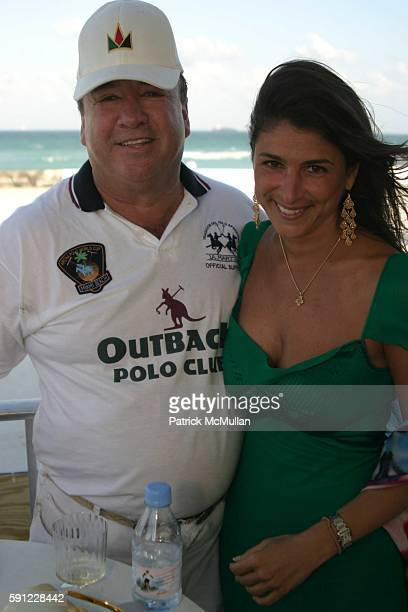 Tim Gannon and Lisa Sayfie attend The Club at Casa Casuarina presents The Miami Beach Arena Polo World Cup 2005 at Casa Casuarina on April 15 2005 in...